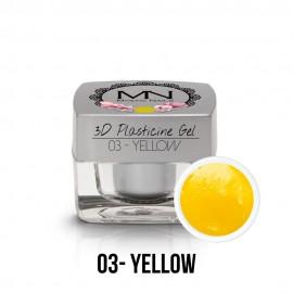 3D Gyurma Zselé - 03 - Yellow - 3,5g