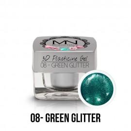 3D Gyurma Zselé - 08 - Green Glitter - 3,5g