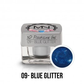 3D Gyurma Zselé - 09 - Blue Glitter - 3,5g