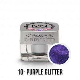 3D Gyurma Zselé - 10 - Purple Glitter - 3,5g