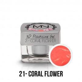 3D Gyurma Zselé - 21 - Coral Flower - 3,5g