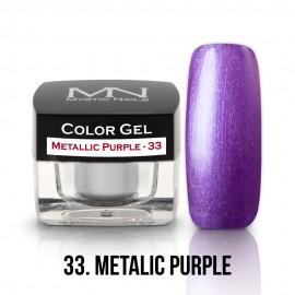 Színes Zselé - 33 - Metallic Purple - 4g