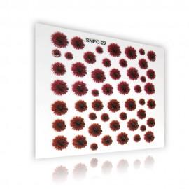 3D Matrica - virág - 2