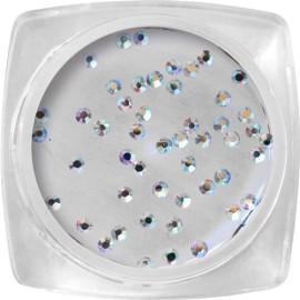 Crystal kő - SS3 -  ezüst, hologramos - 50 db/tégely