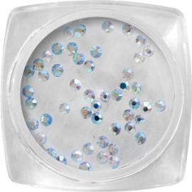 Crystal kő - ezüst, hologramos SS4 - 50 db / tégely