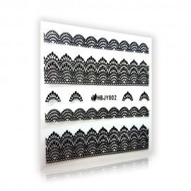 Fekete Csipke matrica - HBJY002
