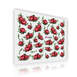 Virágmintás matrica - C035