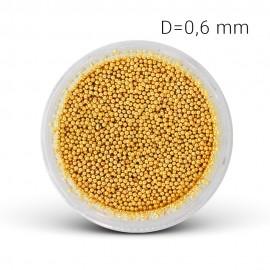 Fém gyöngy - arany (0,6 mm)