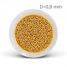 Fém gyöngy - arany (0,8 mm)