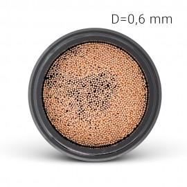 Fém gyöngy - rosé arany (0,6 mm)