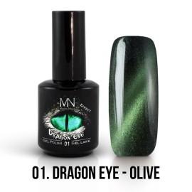 Gél Lakk Dragon Eye Effekt 01 - Olive 12ml