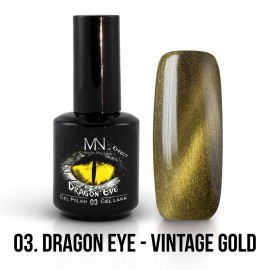 Gél Lakk Dragon Eye Effekt 03 - Vintage Gold 12ml