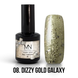 Gél Lakk Dizzy 08 - Dizzy Gold Galaxy 12ml