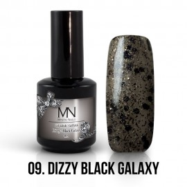 Gél Lakk Dizzy 09 - Dizzy Black Galaxy 12ml