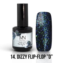 Gél Lakk Dizzy 14 - Dizzy Flip-Flop D 12ml