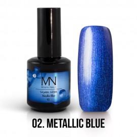 Gél Lakk Metallic 02 - Metallic Blue 12ml