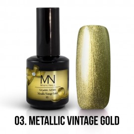 Gél Lakk Metallic 03 - Metallic Vintage Gold 12ml