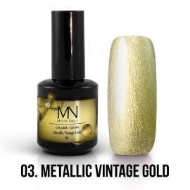 Gél Lakk Metallic 03 - Metallic Vintage Gold 12ml