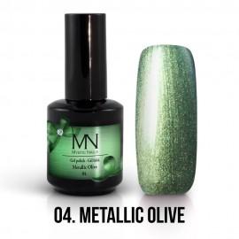 Gél Lakk Metallic 04 - Metallic Olive 12ml