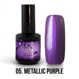 Gél Lakk Metallic 05 - Metallic Purple 12ml