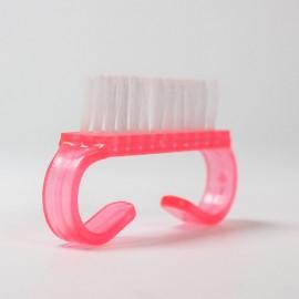 Portalanító kefe kicsi- rózsaszín (ujjra húzható)