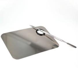 Fém keverő lap spatulával