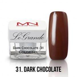 LeGrande Color Gel - no.31. - Dark Chocolate - 4g