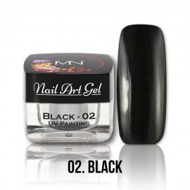 UV Festő Színes Zselé - 02 - Black