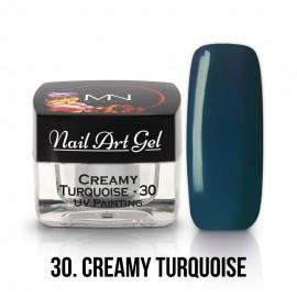 UV Festő Színes Zselé - 30 - Creamy Turquoise - 4g