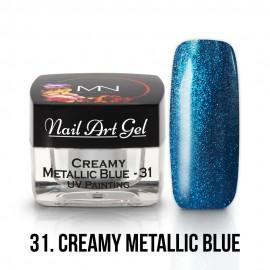 UV Festő Színes Zselé - 31 - Creamy Metallic Blue - 4g