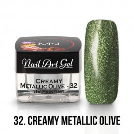 UV Festő Színes Zselé - 32 - Creamy Metallic Olive - 4g