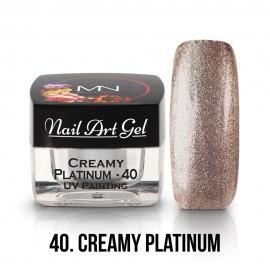 UV Festő Színes Zselé - 40 - Creamy Platinum - 4g