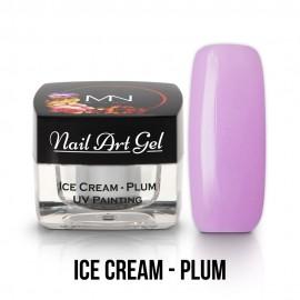 UV Festő Színes Zselé - Ice Cream - Plum - 4g