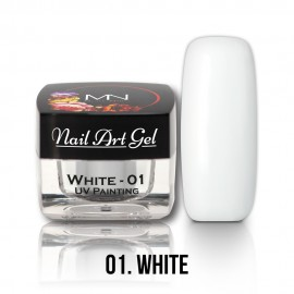 UV Festő Színes Zselé - 01 - White - 4g