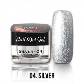 UV Festő Színes Zselé - 04 - Silver - 4g