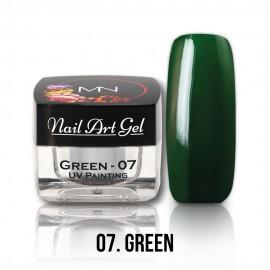 UV Festő Színes Zselé - 07 - Green - 4g