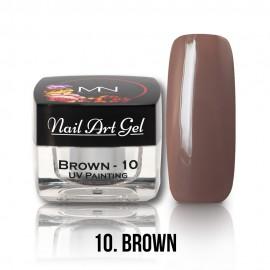UV Festő Színes Zselé - 10 - Brown - 4g