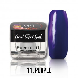 UV Festő Színes Zselé - 11 - Purple - 4g