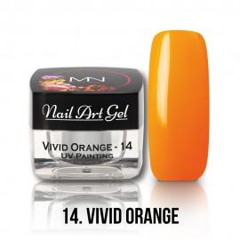 UV Festő Színes Zselé - 14 - Vivid Orange - 4g