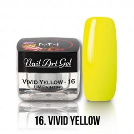 UV Festő Színes Zselé - 16 - Vivid Yellow - 4g