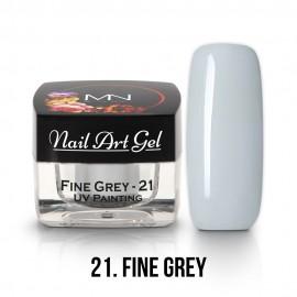 UV Festő Színes Zselé - 21 - Fine Grey - 4g