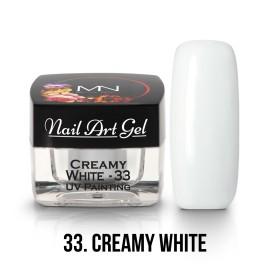 UV Festő Színes Zselé - 33 - Creamy White - 4g