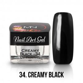 UV Festő Színes Zselé - 34 - Creamy Black - 4g