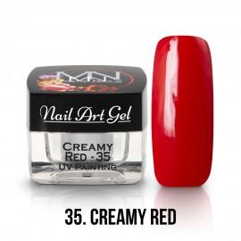 UV Festő Színes Zselé - 35 - Creamy Red - 4g