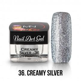 UV Festő Színes Zselé - 36 - Creamy Silver - 4g