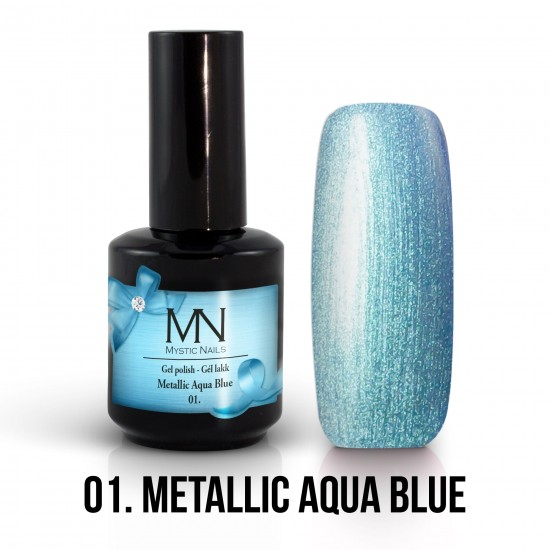 Gél Lakk Metallic 01 - Metallic Aqua Blue 12ml