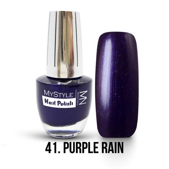 MyStyle Körömlakk - 041. - Purple Rain - 15ml